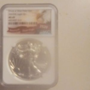2020(W) MS 69 NGC Graded Silver American Eagle